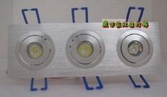 方型天花灯(1到4连体)1-18W  13-150元