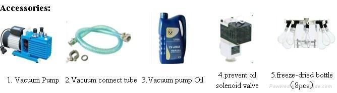 Hanging bottle Vacuum Freeze dryer 3