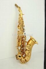 brush gold curved soprano saxophone