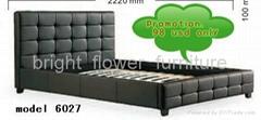 2012 new design sculptural soft genuine leather bed