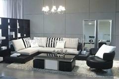 foshan  living room  leather sofa