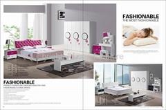 modern color panel bedroom set