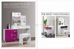 Modern handpainted white wood dressing table   (bed,dresser,wardrobe)