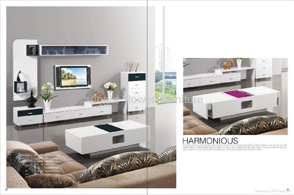 White High Gloss Mdf Modern Tv Stand Tv Table Cp 027