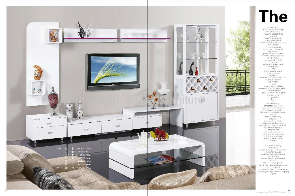 ... White High Gloss Mdf Modern TV Stand TV Table ...