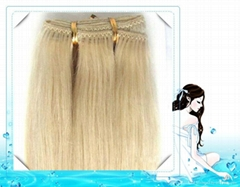 Top quality blond color hair weft