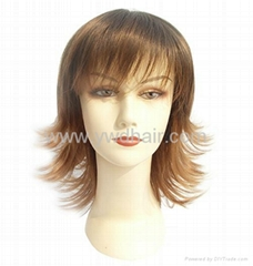 Fashion popular synthetic wigs