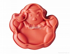 silicone cake mould in jackstraw shape