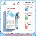 led temperatture controlling bath shower head 4