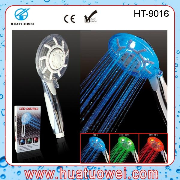 Adjustable led rainfall home or hotel bathroom shower head 4