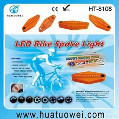 Led colorful bike or bicycle wheel light