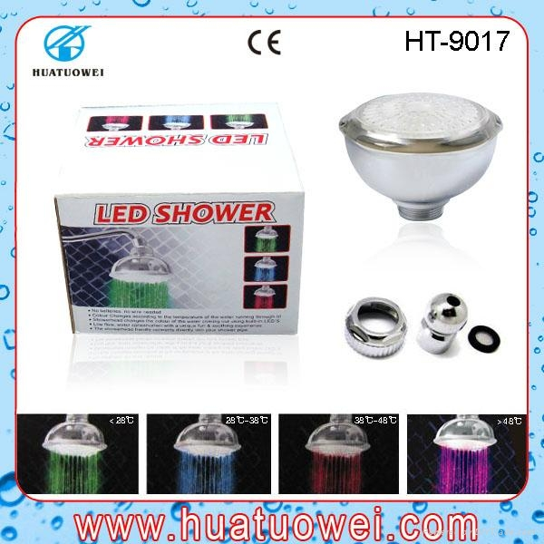 Colorful led ceiling bathroom shower head 2