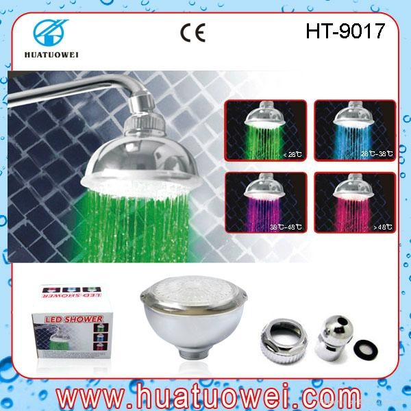 Colorful led ceiling bathroom shower head 3