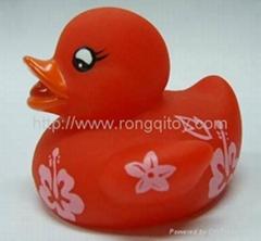 Floating vinyl duck