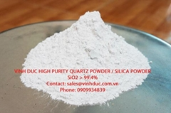 High Purity Quartz Sand SiO2>99.4%