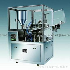 Metal tube filling and sealing machine