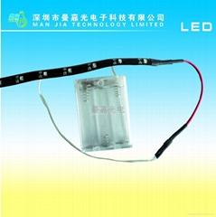 4.5v帶有電池盒的LED軟光條