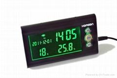 Digital Clock Temperature and Humidity Meter