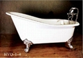 Cast iron classical bathtub