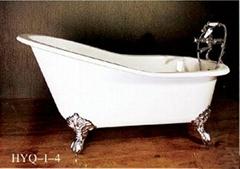Cast iron classical bathtub