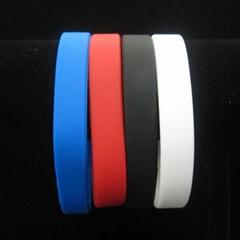 Silicone Wristband Bracelet Rubber Fashion New Color