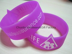 promotional wide silicone bracelet
