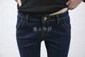 深蓝弹力小脚牛仔裤 5