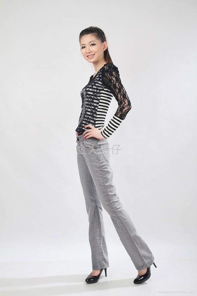 品质微叭牛仔长裤 2
