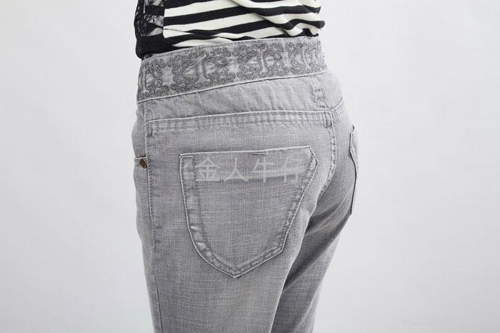品质微叭牛仔长裤 4