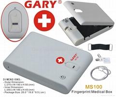 Biometric Fingerprint Portable Mini Medical safe Box for home and hospital