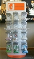 High quality economic motorcycle helmet stand with clear acrylic shelves   5