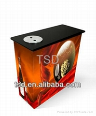 Portable MDF promotional desk table with ice bucket for drinks