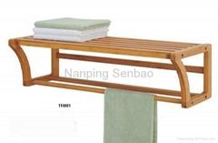 bamboo bathroom rack