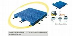 grid top 3 rails with steel plastic pallet