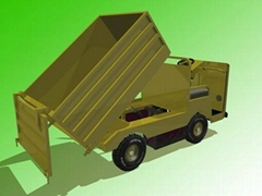 electric truck with dumping cargo bed