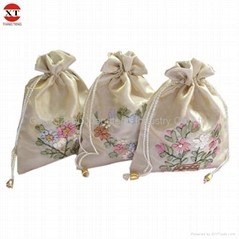 Satin embroidery gift bag
