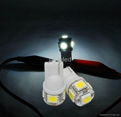 hot sale T10 W5W 5 SMD LED signal light bulb