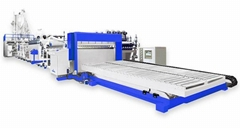 PMMA,PC,PP flat & corrugated sheet forming equipment