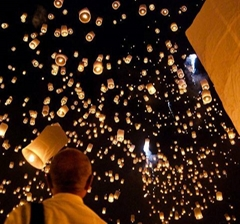 Biodegradable paper sky lantern, flying UFO balloon,