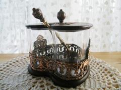 歐洲心型木盒調味罐