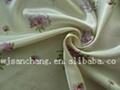 100% POLY printed satin fabric