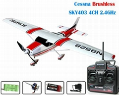 Cessna Brushless SKY403 4CH 2.4GHz AP03-9 rc airplane RTF