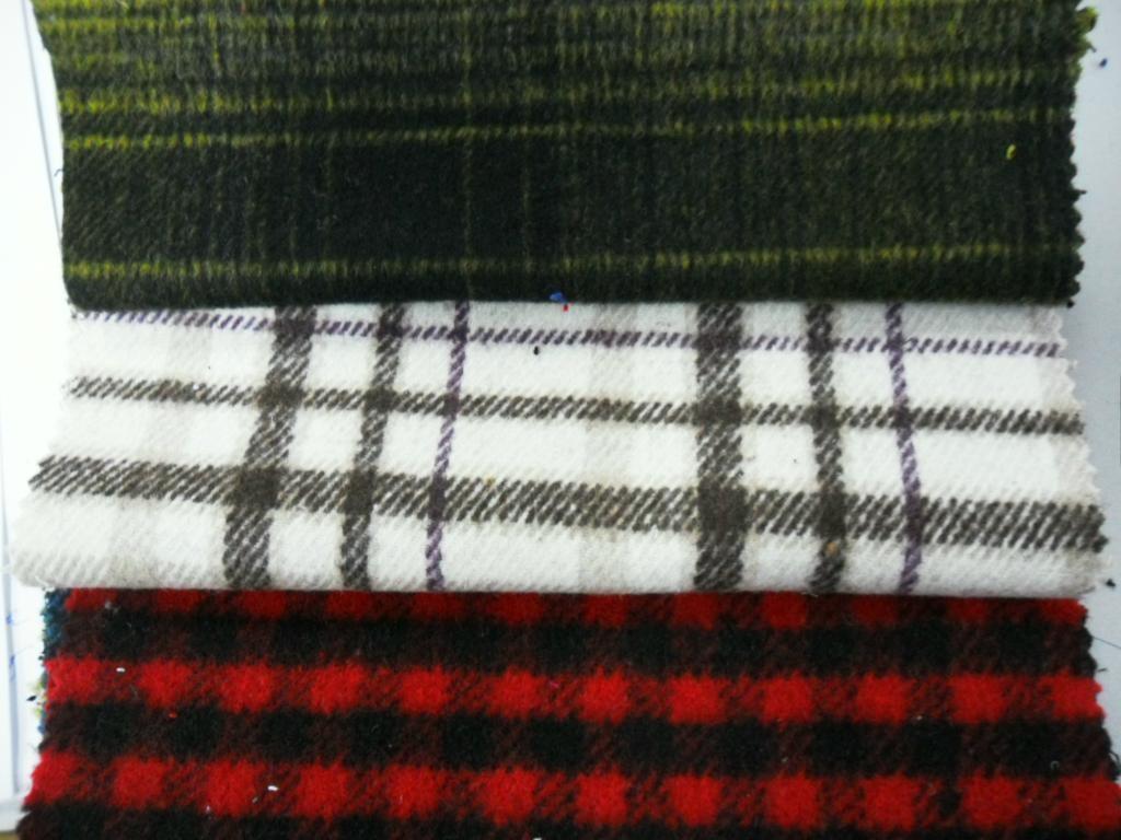 毛滌色織格子 2