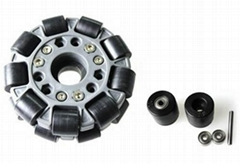 (4 inch) 100mm Double Nylon-Rubber Omni wheel w/Bearing Rollers 14041