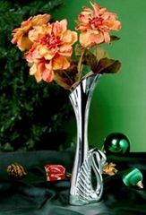 SILVER-PLATED SWAN SHAPE VASE
