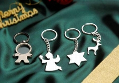 鍍銀品味鑰匙鍊扣