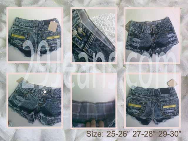 Trendy Dark Blue Denim Shorts 1