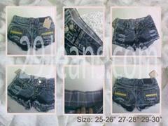 Trendy Dark Blue Denim Shorts