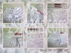Trendy White Denim Shorts