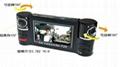 E视界行车记录仪同步录相双路镜